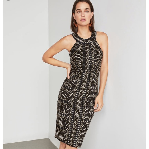 BCBGMaxAzria Dresses & Skirts - BCBG pyramid jacquard dress XS